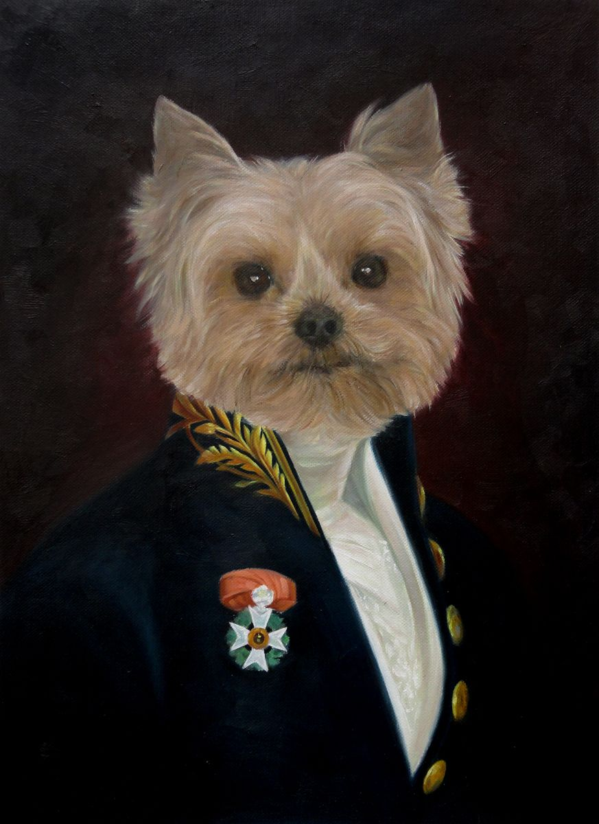Dogs In Military Uniform Dog Portraits Painting Dog Portraits Dog Paintings