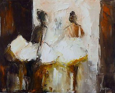 danseuse classique tableau peinture huile sur toile. Black Bedroom Furniture Sets. Home Design Ideas