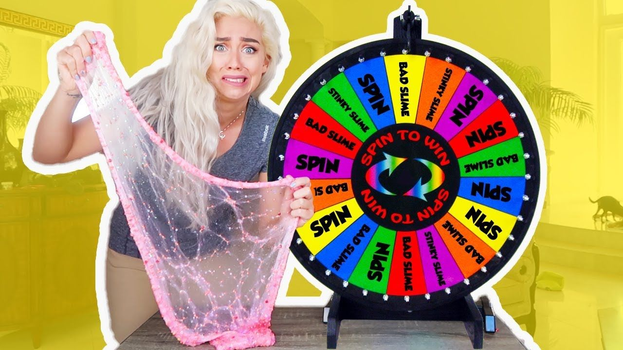 Mystery Wheel of Slime! SPIN WHEEL CHALLENGE GAME