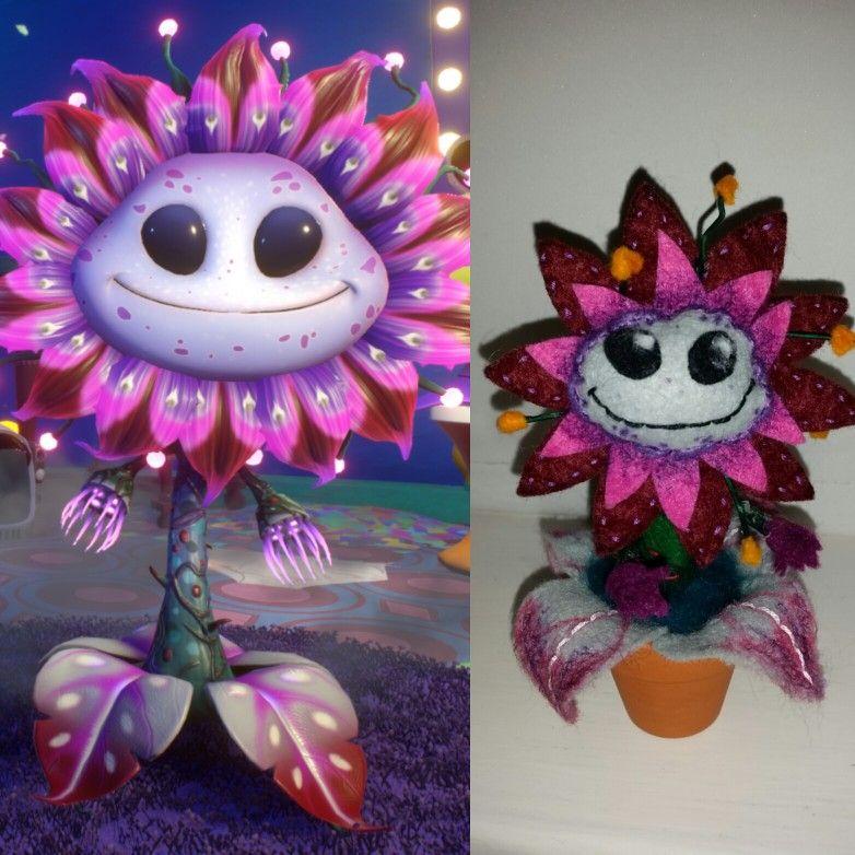 Plants Vs Zombies Garden Warfare 2 Alien Sunflower Felt Plushy