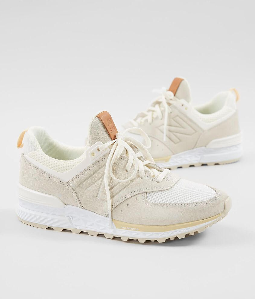 New Balance 574 Sport Shoe Women S Shoes In Sea Salt Vanilla Buckle In 2020 Sport Shoes Women Tennis Shoe Outfits Summer Tennis Shoes Outfit