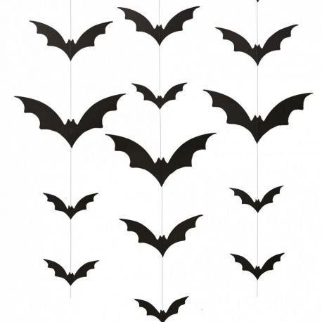 Guirlandes de chauve souris suspendre pour d corer votre f te d 39 hallowe - Guirlande d halloween ...