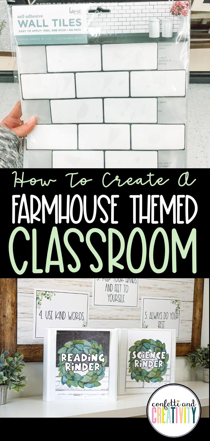How To Create A Farmhouse Themed Classroom