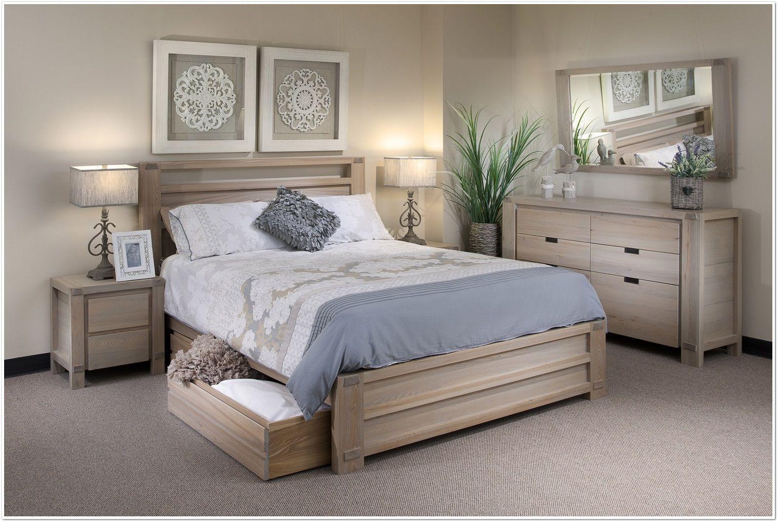 Bedroom French Coastal Barbados Furniture White Washed Wood Sets