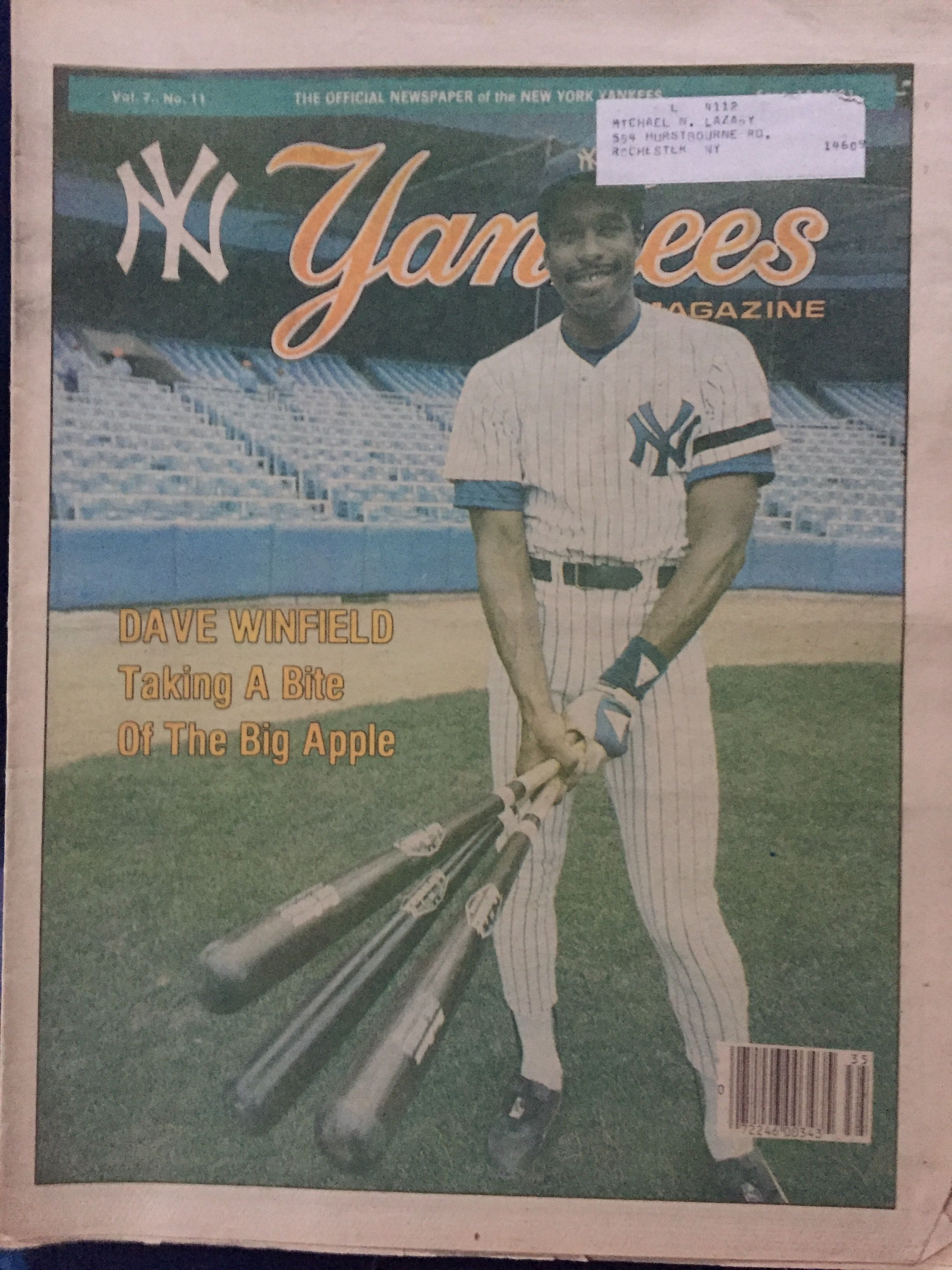 2.11 September 14, 1981 Winfield, Yankees news, New york