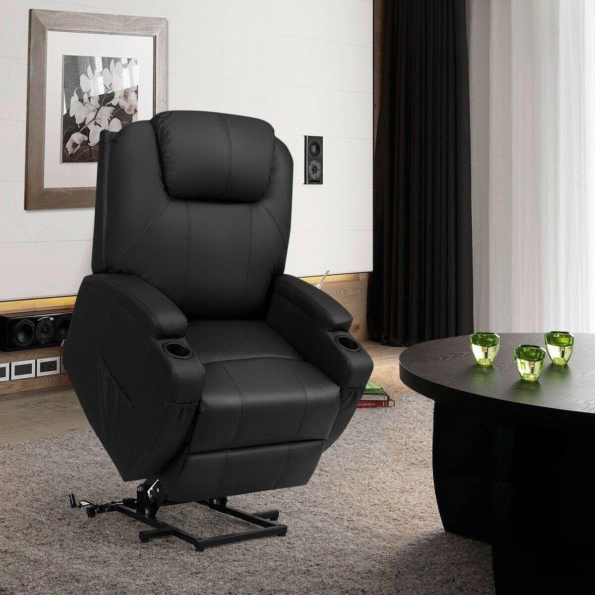 Electric lift power recliner heated vibration massage