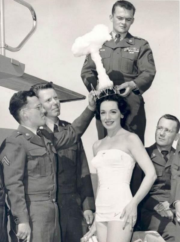 Miss Atomic Bomb in 1950.