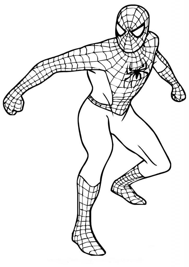 spiderman ausmalbilder drucken sie marvel hero  kids