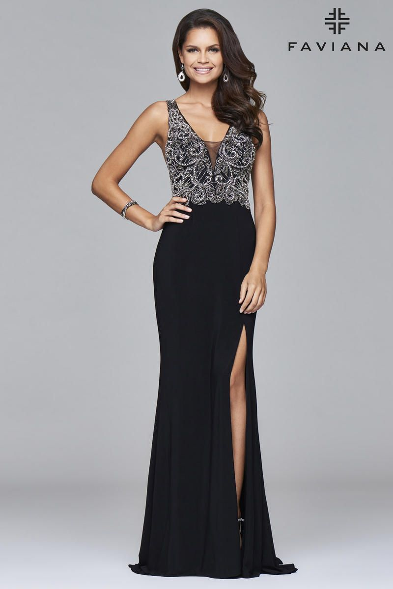 b69a846cde2a2 Faviana Glamour S7915 Fit and Flare Gown