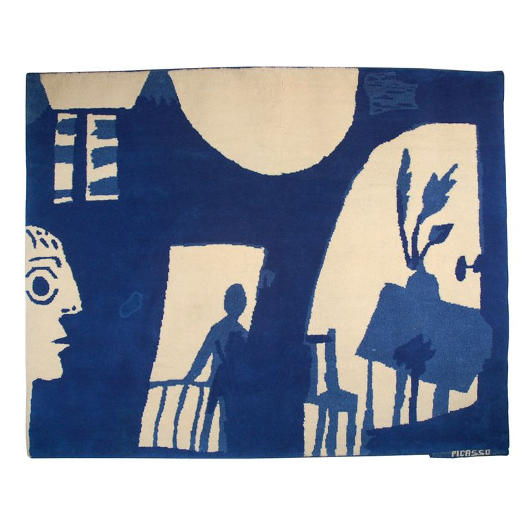 USA. Picasso wool & cotton tapestry, created in collaboration with Charles Slatkin Gallery. 1965. h72w90