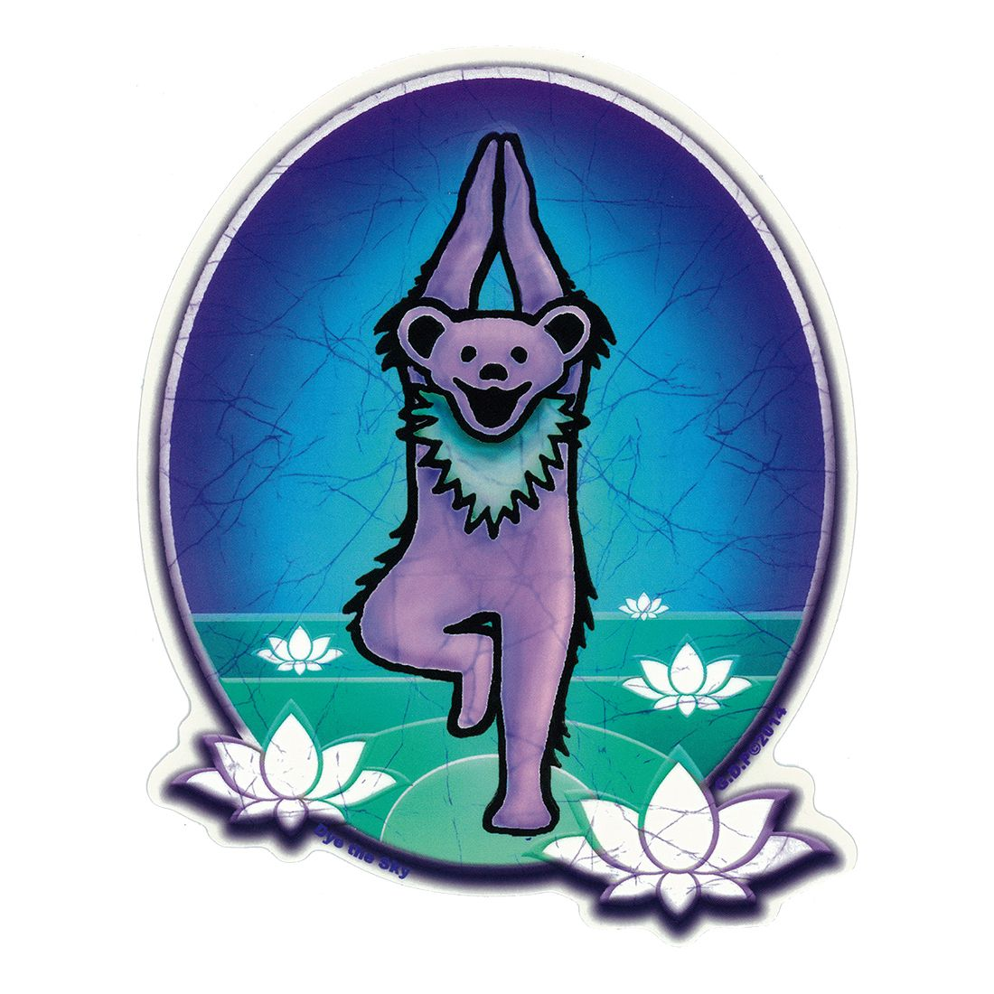Gd Yoga Bear Sticker Grateful Dead Dancing Bears