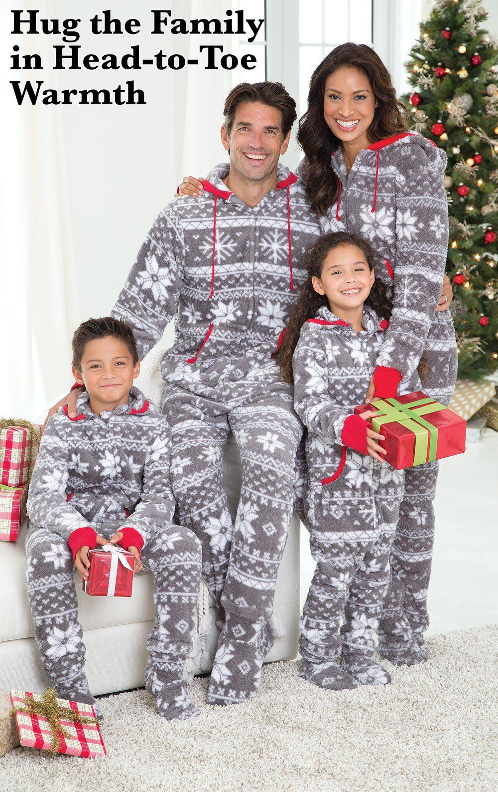HoodieFootie™ Matching Family Pajamas Nordic Fleece