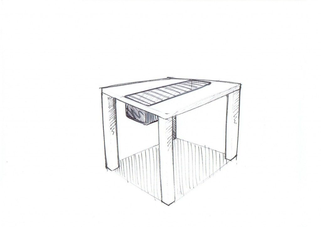 tisch mit integriertem grill dekoration bild idee. Black Bedroom Furniture Sets. Home Design Ideas