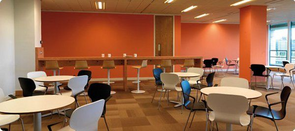 Break out area office interior design at boston scientific - Interior design schools in boston ...