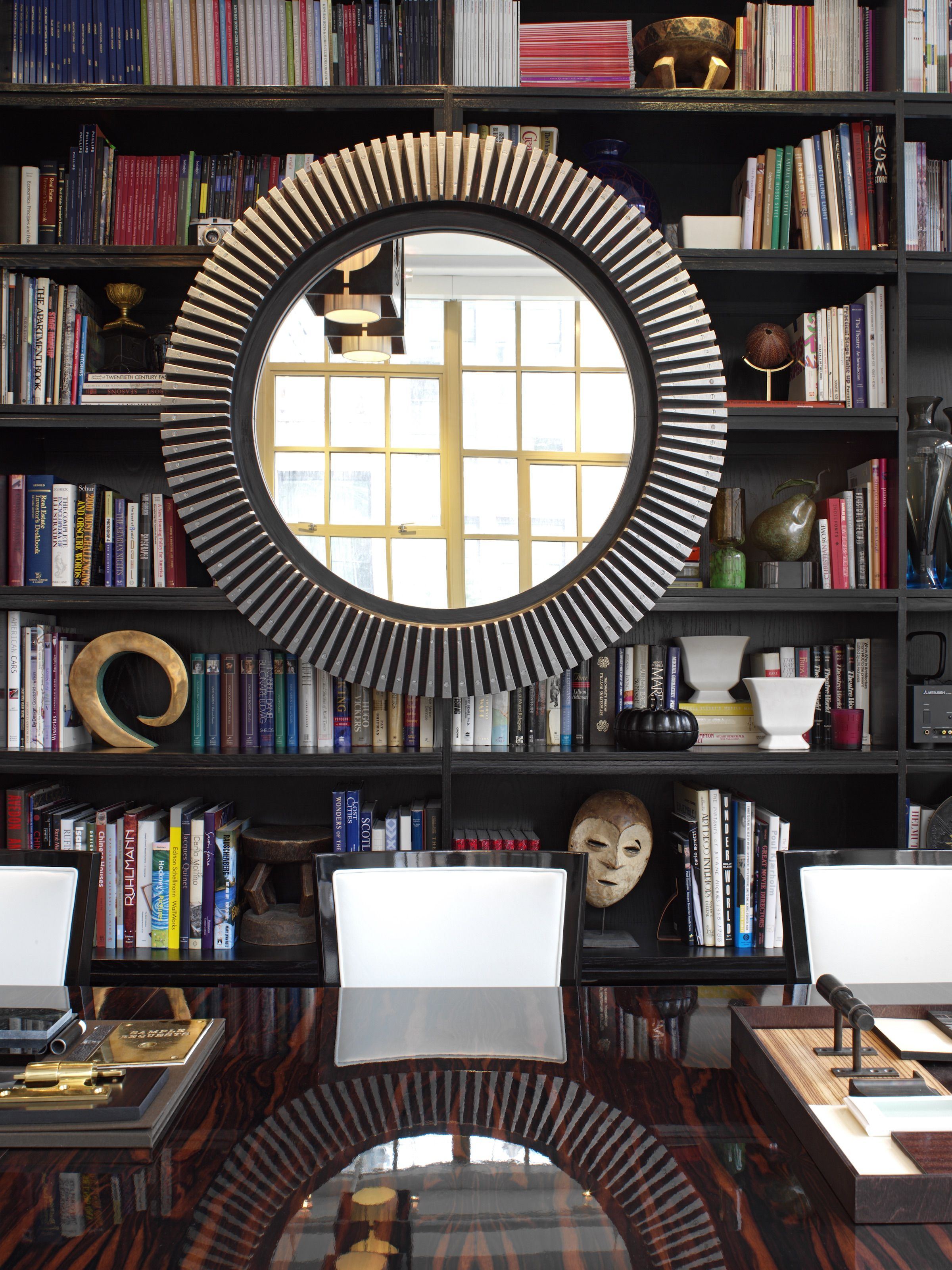 Interior Design Library Room: A Large-scale Mirror Throws A Curve To My Library