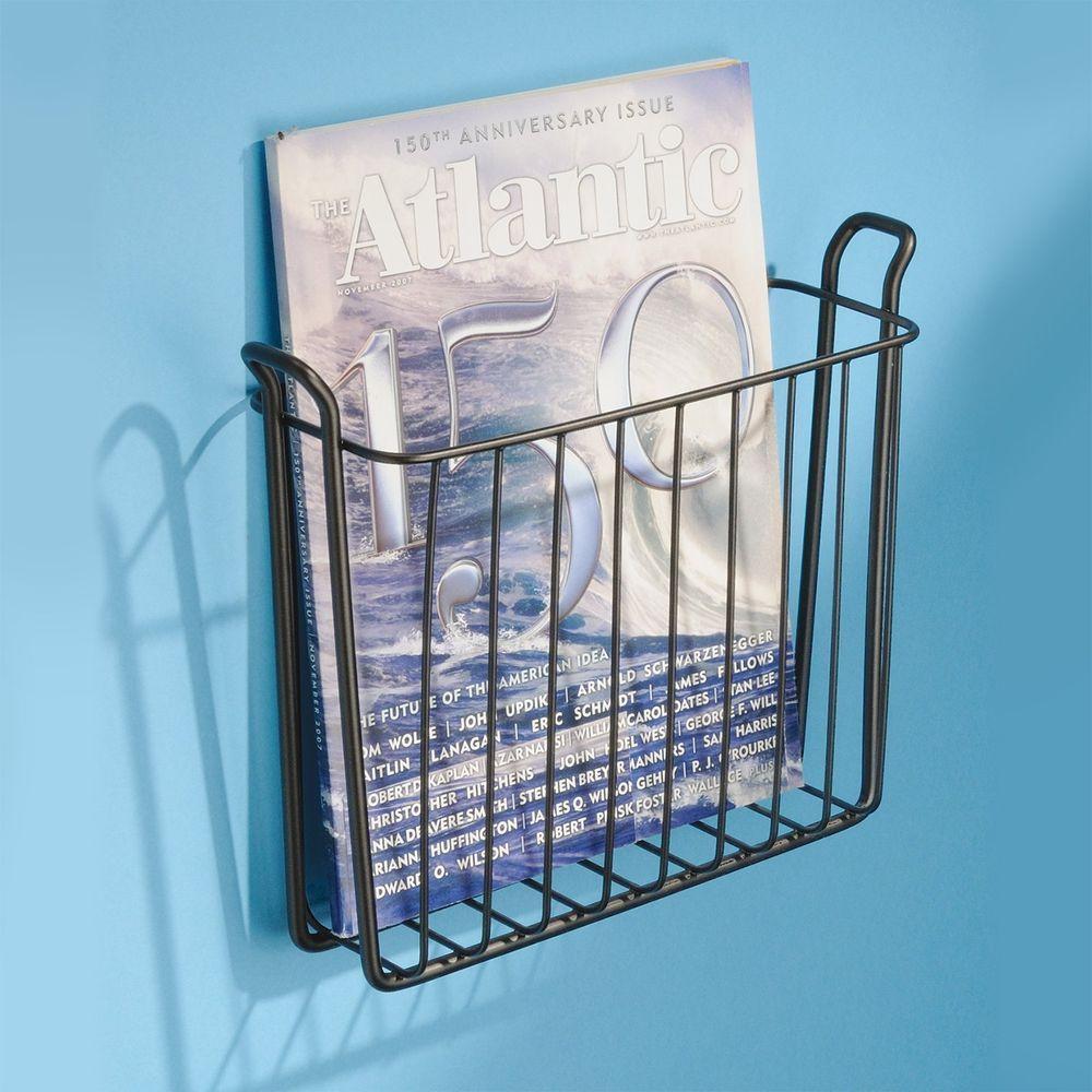 wall mount magazine rack toilet. Classico Wall Mount Magazine Rack Newspaper Toilet Wallmount Paper Holder #Interdesign