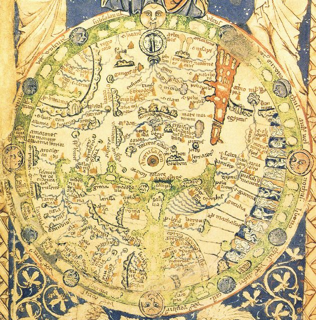 Psalter Map Atlas Map Cartography Old Maps