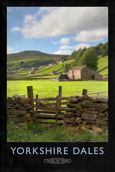 'Yorkshire Dales Railway Poster' Poster by Andrew Roland