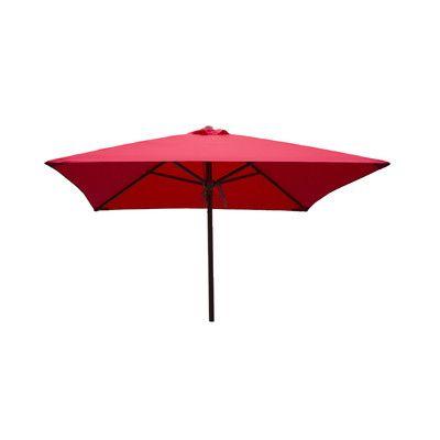 Heininger Destination Gear 6.5 ft. Classic Wood Square Market Umbrella Color: Red