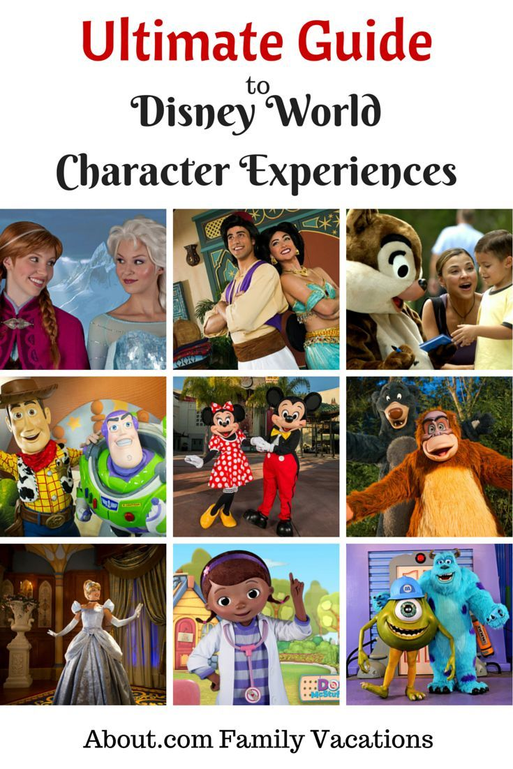 The Ultimate Guide to Character Experiences at Disney World #disneycharacters