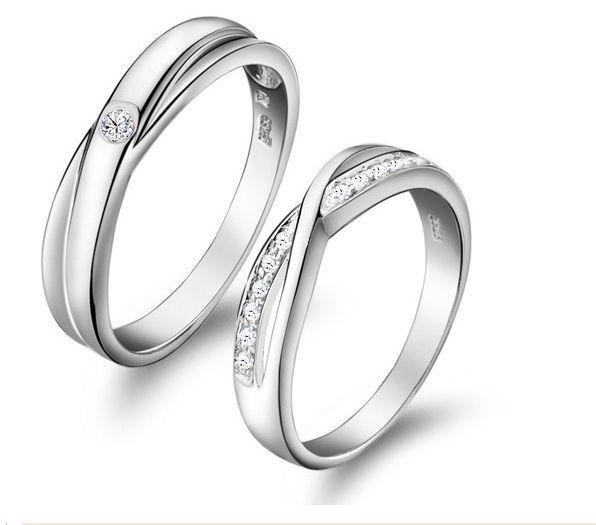 11ca84e93d6dd Elegant Couple Ring / Engagement Ring / Wedding Band - Material: 18K ...
