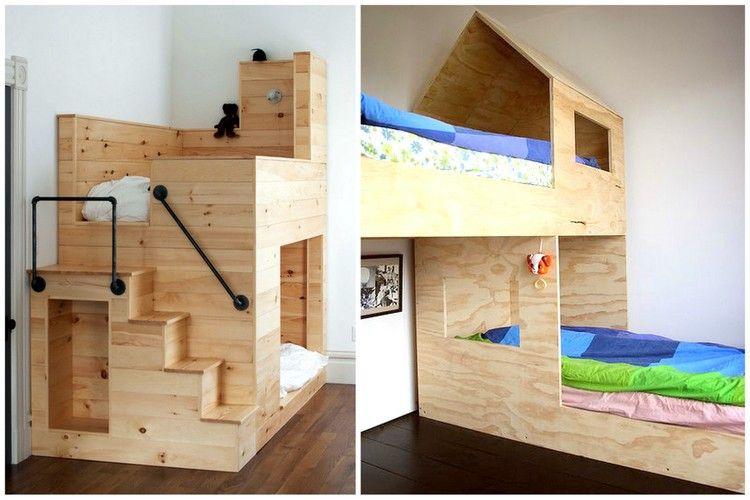 lit cabane enfant quel mod le choisir pour votre enfant lit cabane en bois cuarto ni a. Black Bedroom Furniture Sets. Home Design Ideas
