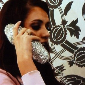Silver Crystal Lips Phone at Amy Child's salon