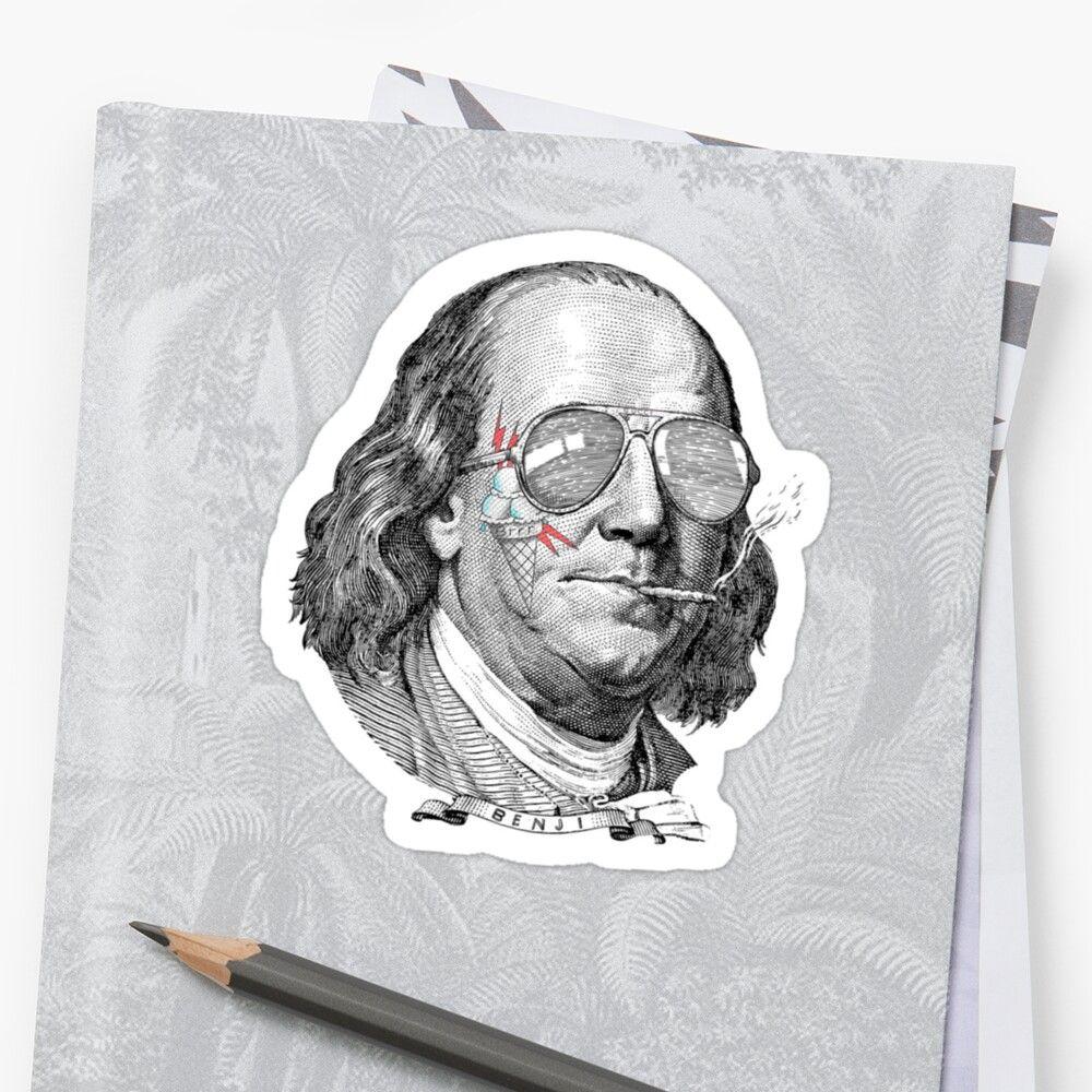 Cone Brrr Guccimane Benji Benjamin Franklin Hunnid Hundred Rap Hiphop Trap Hip Hop Ben 100 Bill Money D Tattoo Sleeve Filler Money Tattoo Mane [ 1000 x 1000 Pixel ]
