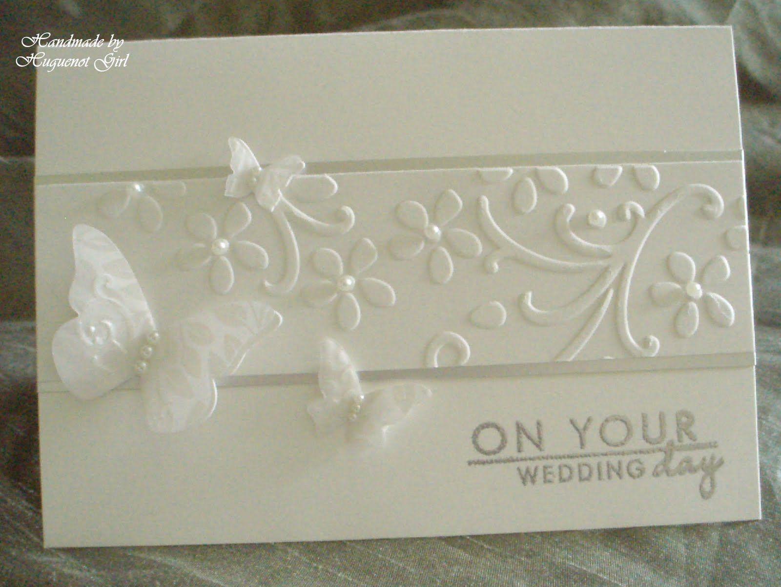handmade wedding cards ideas   recipe card paper su shimmery white ...