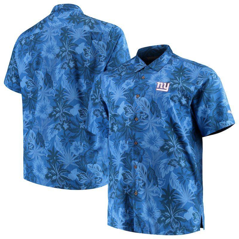 New York Giants Tommy Bahama Big   Tall Fuego Floral Button-Up Shirt – Royal 5efeefbdb