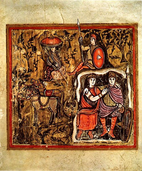 Aeneas and Dido in the cave, Roman Virgil MS