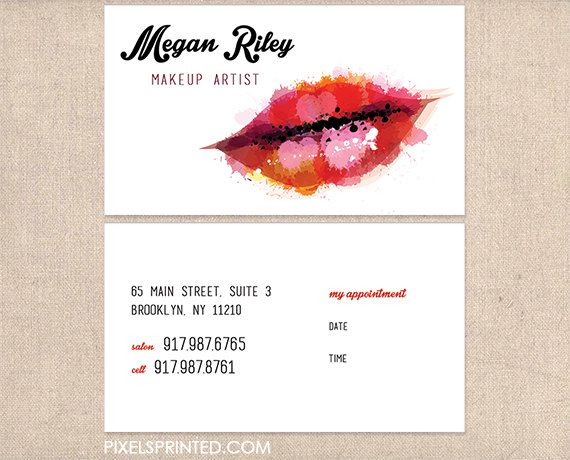 Make up artist business cards make up salon business cards shop for makeup artist business card on etsy the place to express your creativity through the buying and selling of handmade and vintage goods reheart Image collections