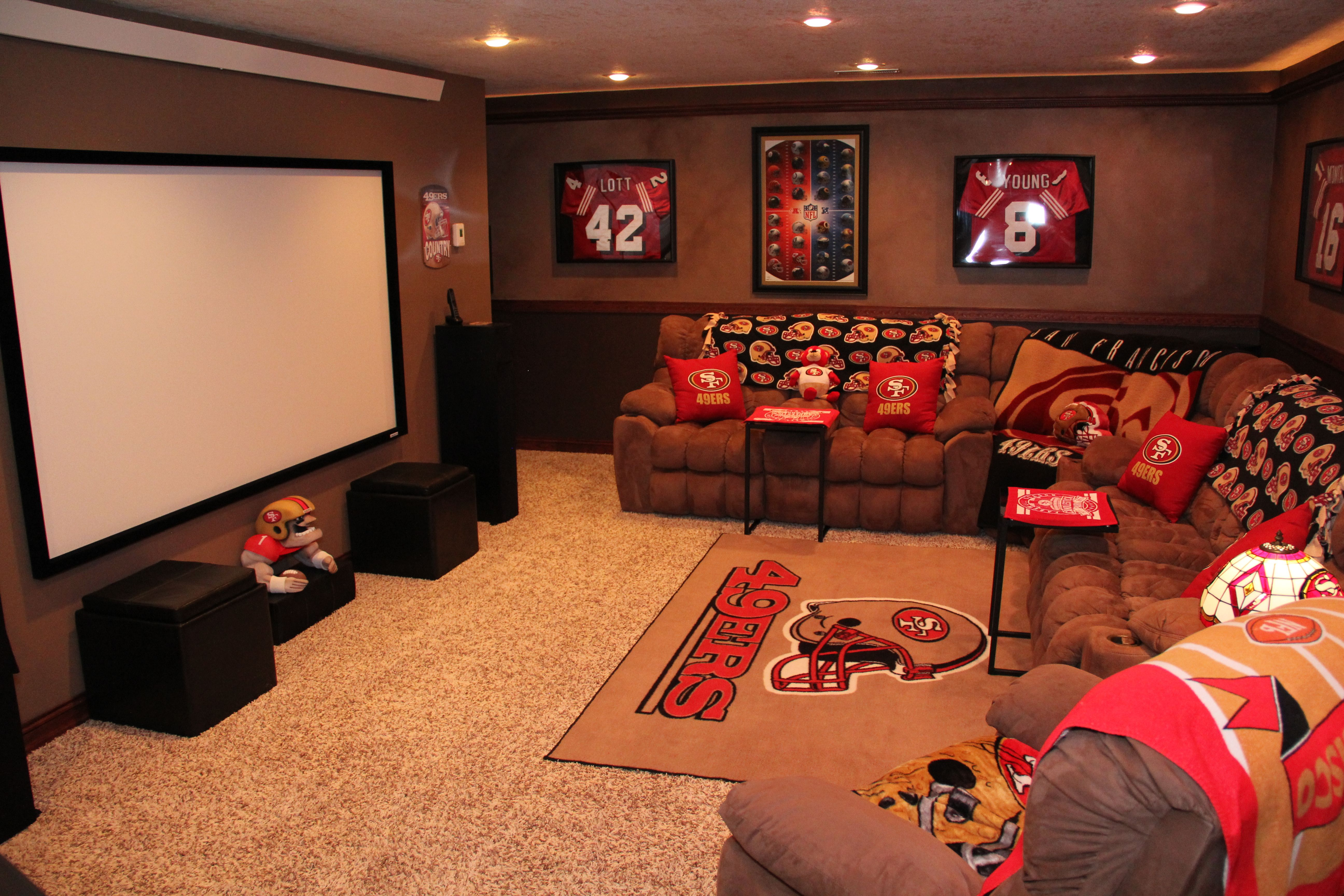Hubby S 49er Mancave I Did For Him Man Cave Sports Man Cave Man Cave Home Bar