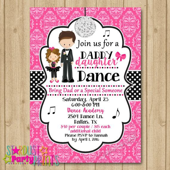 Father daughter dance invitation dance party invitation dance father daughter dance invitation dance party by stardustevents stopboris Image collections