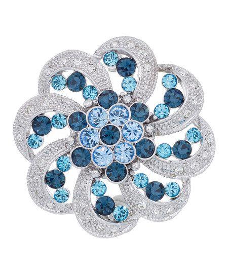 Sapphire & Aquamarine Parasol Brooch