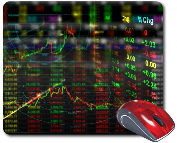 Stock Market Graph Mouse Mat Computer Mouse Pad Art Business Gift
