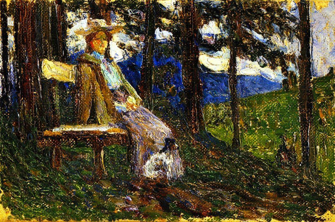 The Athenaeum - Kochel - Anja and Daisy (Wassily Kandinsky - 1902)