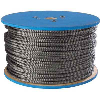 Peerless Chain Company Aircraft Quality Wire Ropes 1 8 7x7 Galv Wire Rope 500 Ft Home Hardware Decor Hardware
