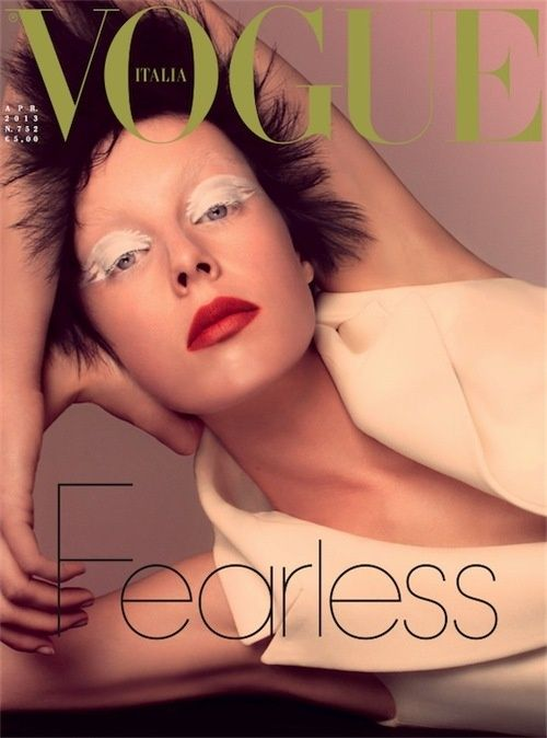 Edie Campbell  Vogue Magazine Cover [Italy] (April 2013)