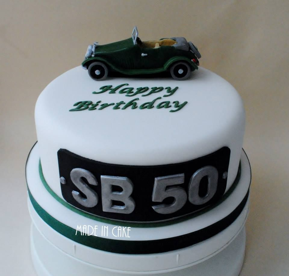 Classic Morgan car 50th birthday cake Celebration Cakes For Him By