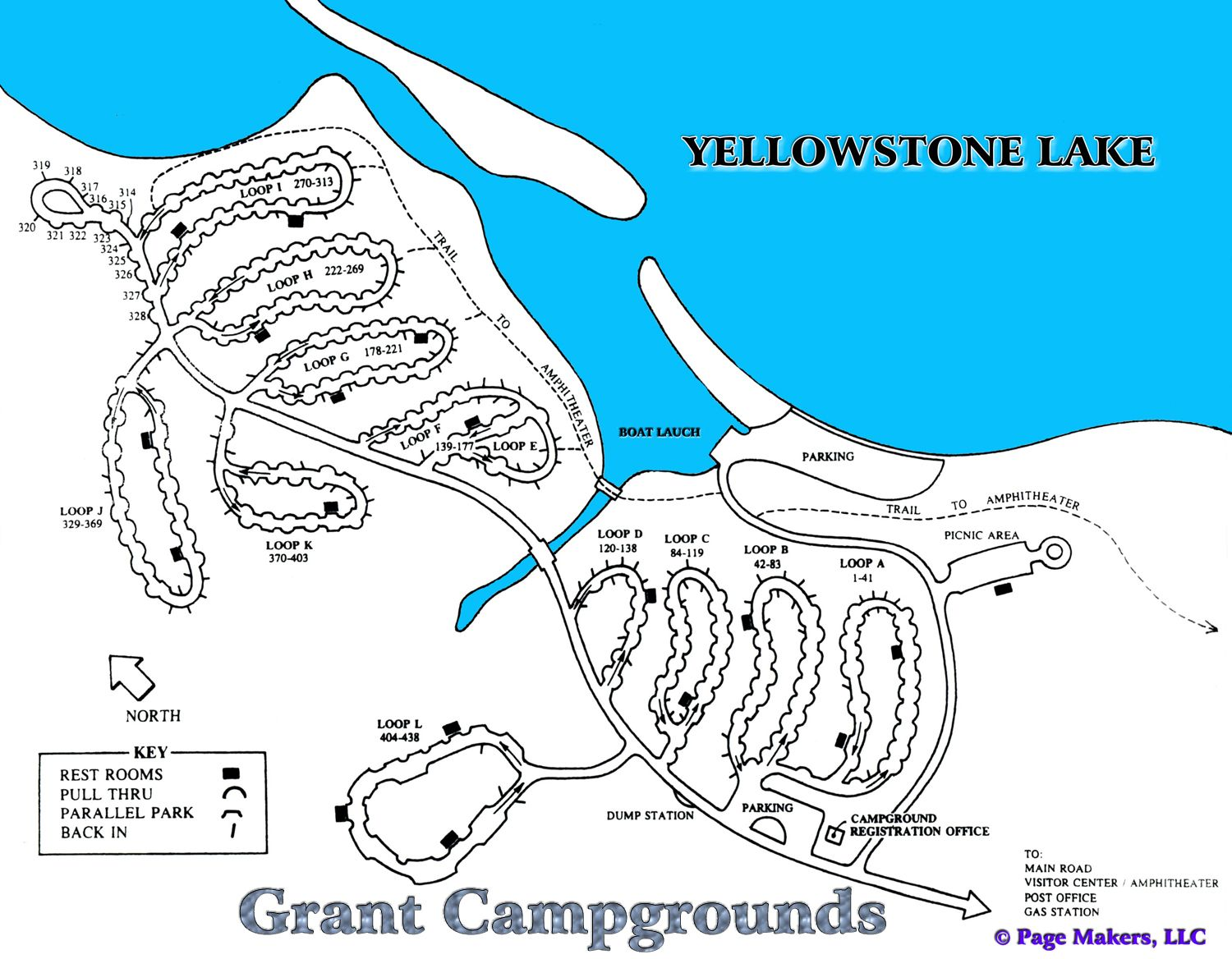 Grant Campground Map Yellowstone National Park 25