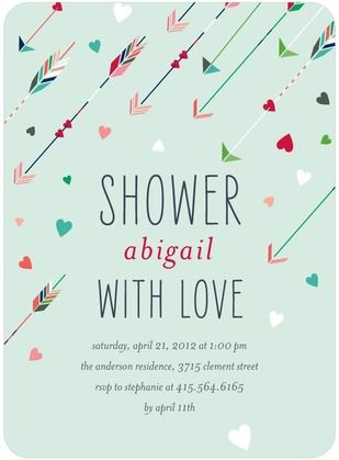 Cupid's Quiver - Baby Shower Invitations - Petite Alma - Aloe - Green : Front