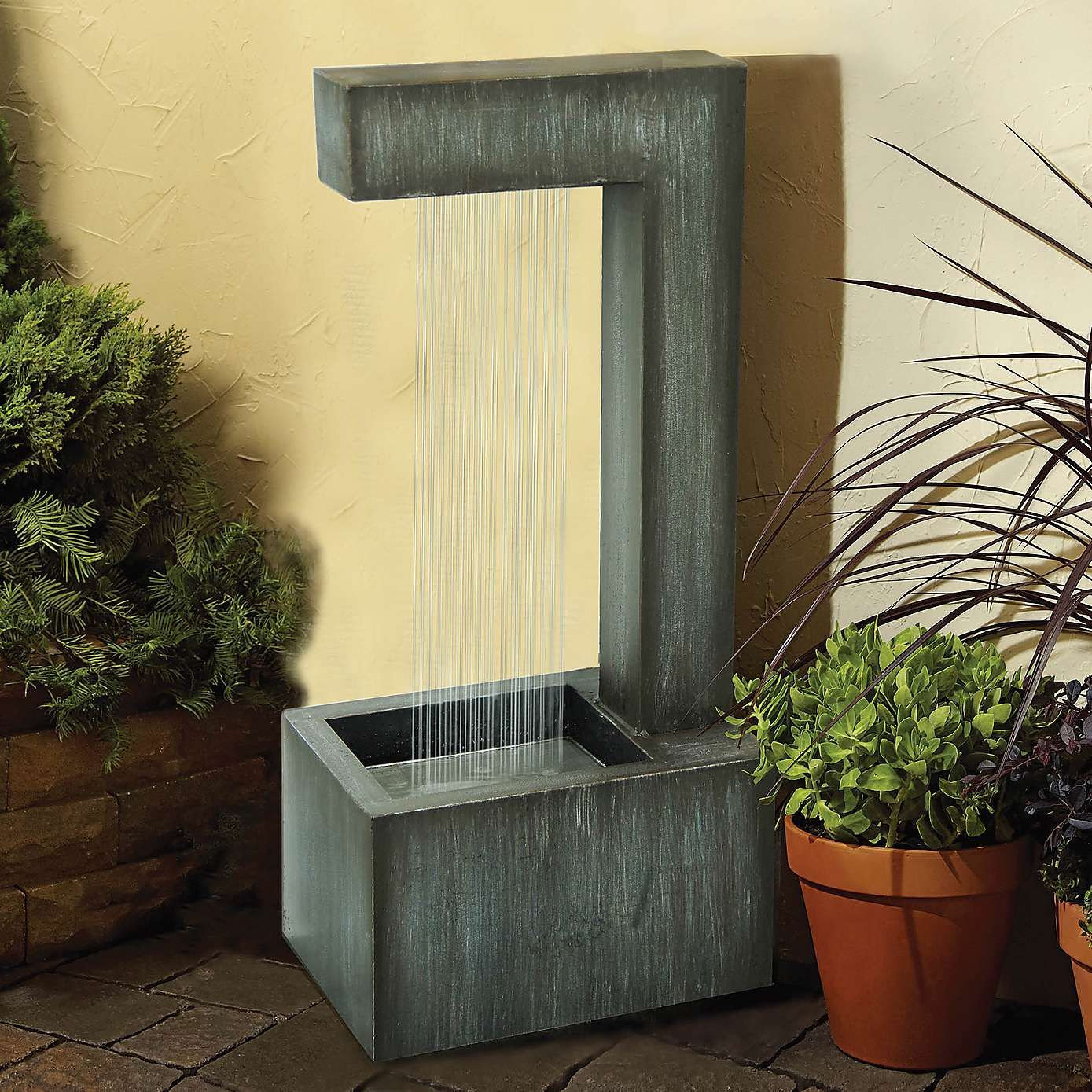 Contemporary Water Fountain | Dunelm | Water Ideas | Pinterest ...