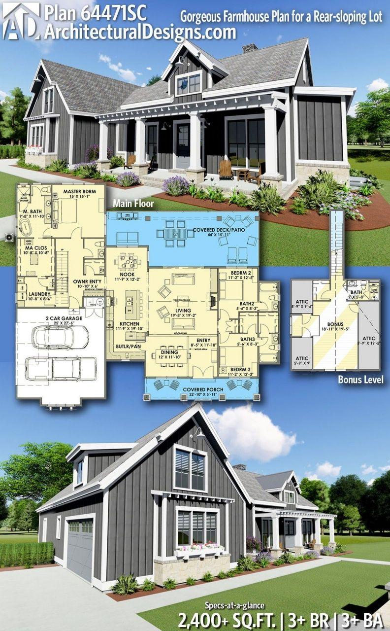 Modern Farmhouse Plans With Photos In 2020 Farmhouse Plans Modern Farmhouse Plans New House Plans