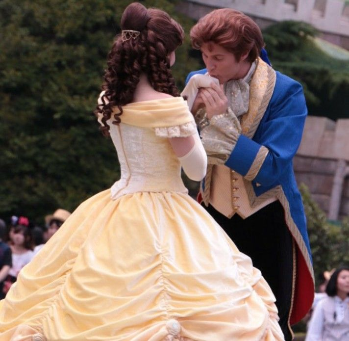 Princess Belle And Prince Adam Beauty And The Beast Gohana: Kiss Of A Prince With Belle And Adam #lovebelleandadam