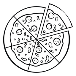 Whole Pizza Icon Pizza Icon Pizza Art Pizza Coloring Page