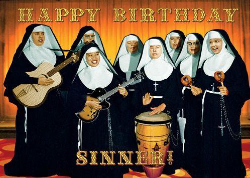Happy birthday sinner nuns greeting card by max hernn birthdays happy birthday sinner nuns greeting card by max hernn m4hsunfo