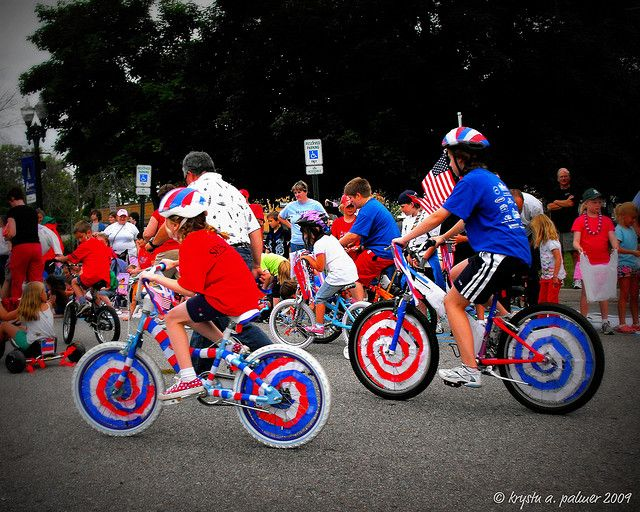 Pedaling Patriots | 4th of July | Bike decorations, Bike ...