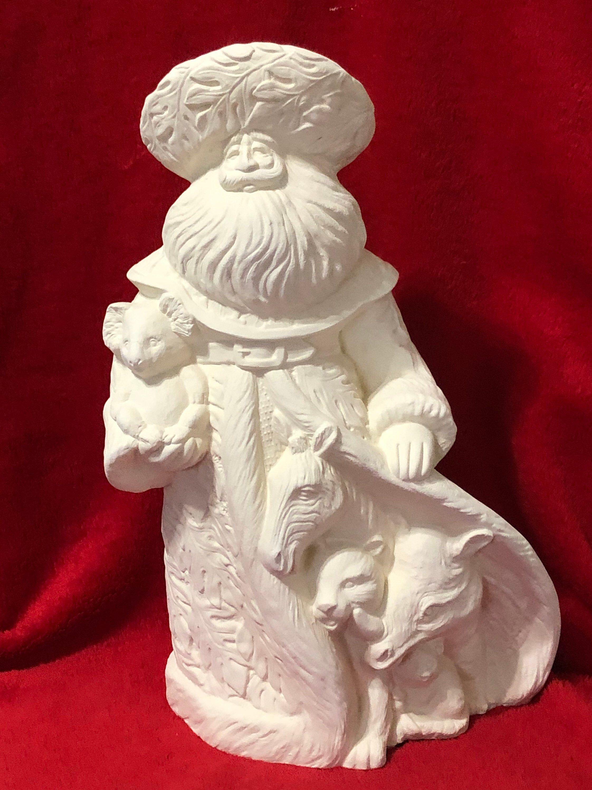 Rare 14 Inch Gare Rain Forest Santa Clause In Ceramic Bisque Ready To Paint In 2020 Ceramic Bisque Handmade Ceramics Painting