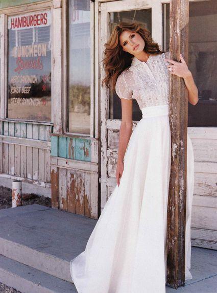 vestidos de novia falda + camisa   mr original wedding   falda midi